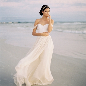 Jillian Fellers Colette Off Shoulder Wedding Gown