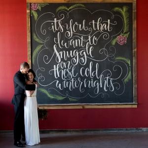 Winter Wedding Snuggle Signage
