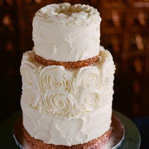 Copper Romantic Wedding Cake