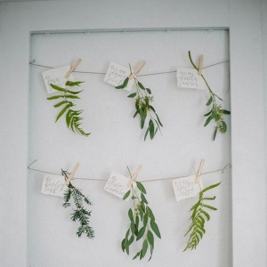 Greenery Wedding Escort Cards - Place Cards - Seating Chart