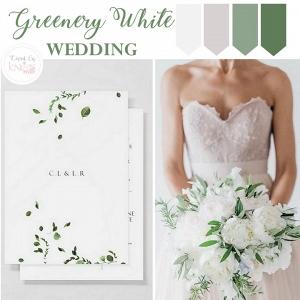 Greenery White Wedding