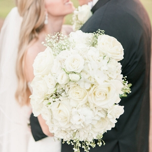 All white hydrangea bouquet