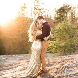 Mountaintop Golden Engagement - Golden Sunlight