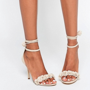 Nude Lace Up Shoes