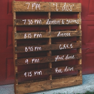 Rustic wooden Program sign