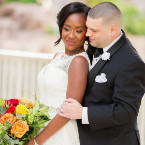 Orlando Resort Fall Wedding - interracial wedding