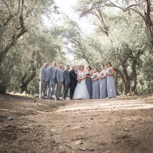 Outdoor Elegant Wedding - Bridesmaids and Groomsmen