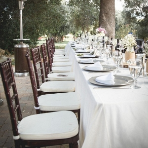 Outdoor Elegant Wedding - reception table