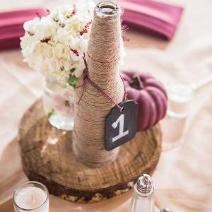 Outdoor Rustic Fall Wedding Wine Bottle
