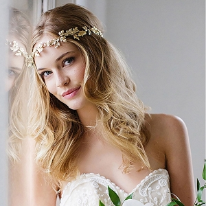 Gold Leaf Halo headband & Sash