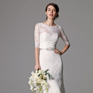 Watters Riviera Illusion Bodice Lace Wedding Dress
