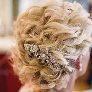 Rustic Tennessee Fall Wedding - romantic updo bridal hair with hair pin