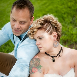 Steampunk Rustic Wedding Inspiration - Couple