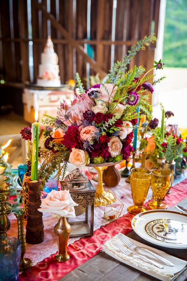 Bright and Bohemian Tablescape