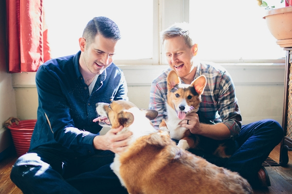 At-Home Engagement Session with Pets