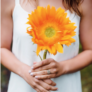 Oversized Flower for Engagement Shoot