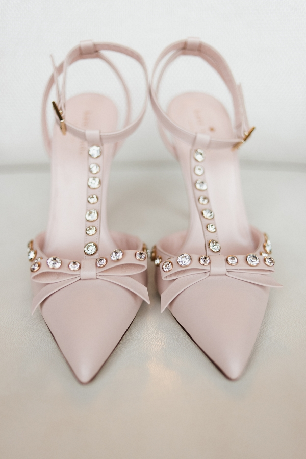 Pink Bridal Shoes with Diamonds
