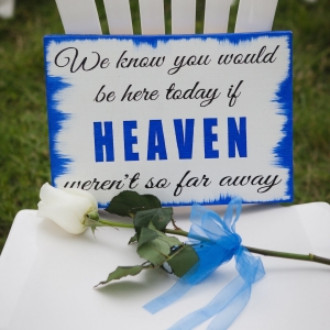 Sign to Remember Loved Ones at a Wedding Ceremony
