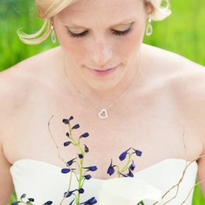 Bridal Beauty Portrait with Bouquet
