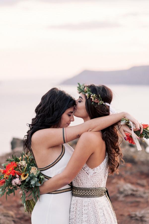 Summer bay wedding