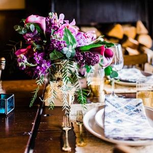 purple-flower-wedding-centerpieces