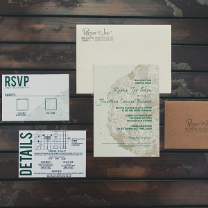 Eco Friendly Earth Tone Wedding Invitation Suite from Forever Fiance