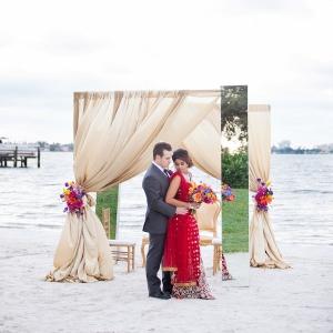 Florida Beachfront Styled Indian Wedding Ceremony