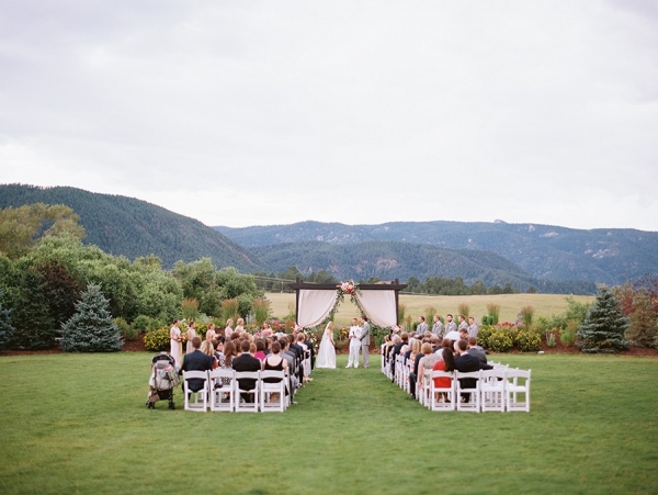 Outdoor Ceremony at Crooked Willow Farms in Colorado