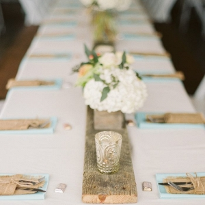 2rustic tablescape with wooden runner