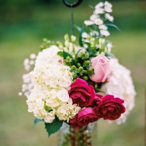 Hanging ceremony florals