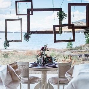 sweetheart table at vintage Breckenridge wedding on Mountainside Bride