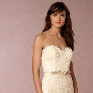 BHLDN Leigh Floral Lace Wedding Dress