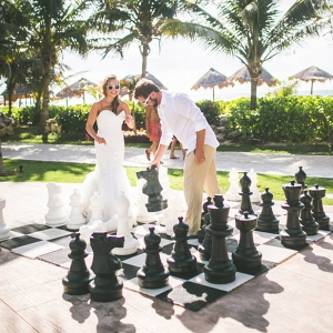 Giant chess for wedding