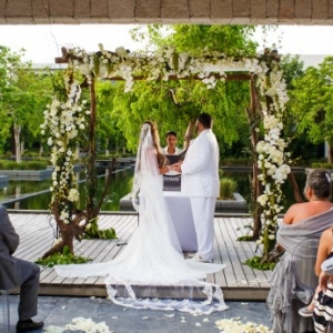 Elegant Cancun wedding ceremony