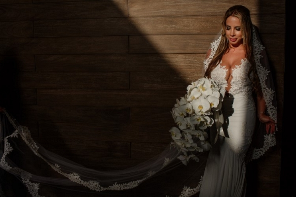 Deep v wedding dress