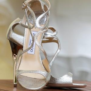 Silver Jimmy Choo heels
