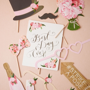 Floral Photo Booth Props