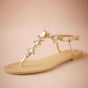 tulum Gold Jeweled Sandals