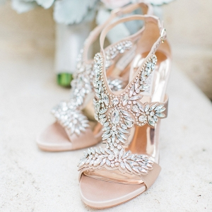 Jeweled wedding shoes