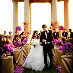 Radiant orchid wedding ceremony