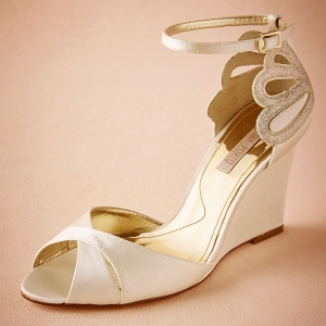 Peep Toe Bridal Wedges