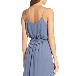 Ruffle V-Neck Bridesmaid Dress Amsale