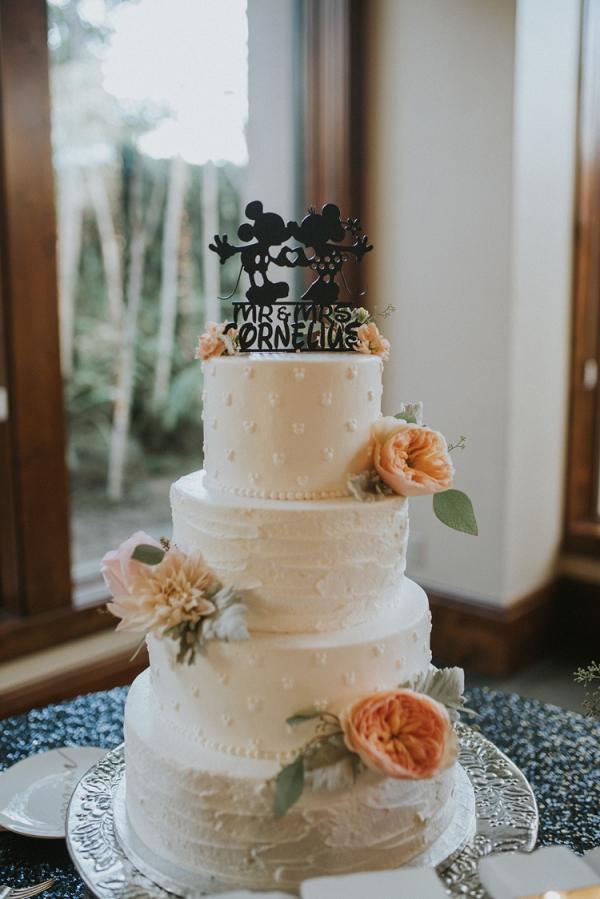 Mickey Mouse wedding cake