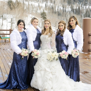 Winter bridesmaids style