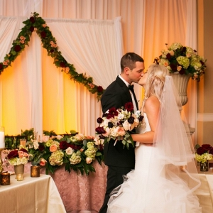 Glamorous ballroom reception