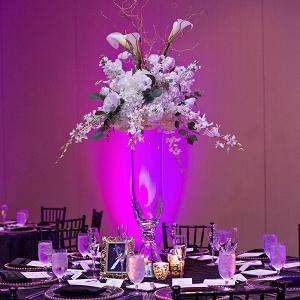 Modern purple ballroom reception