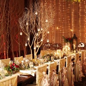 Romantic winter wedding reception