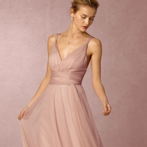 bhldn Tulle Convertible Bridesmaid Dress