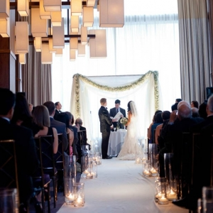 Ballroom wedding ceremony at Trump SoHo New York
