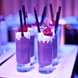 Mini milkshakes for a late night reception snack